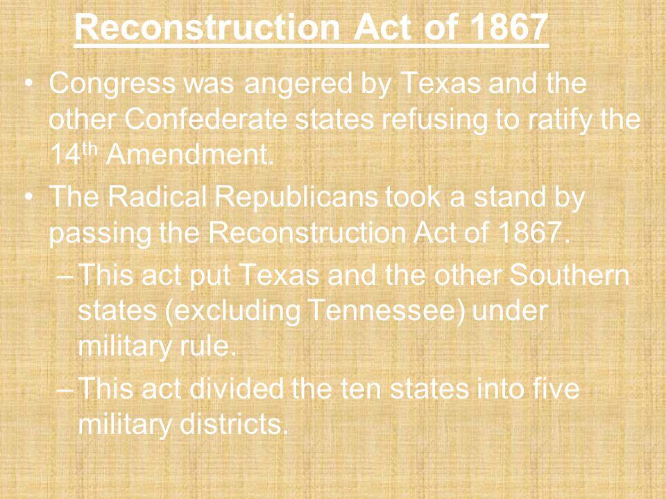 The Fourteenth Amendment The Republican's passed the Fourteenth Amendment. Among other parts of this amendment, it granted citizenship to former slave
