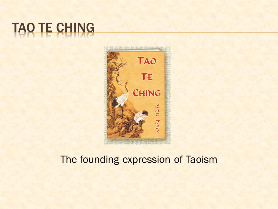 The founding expression of Taoism