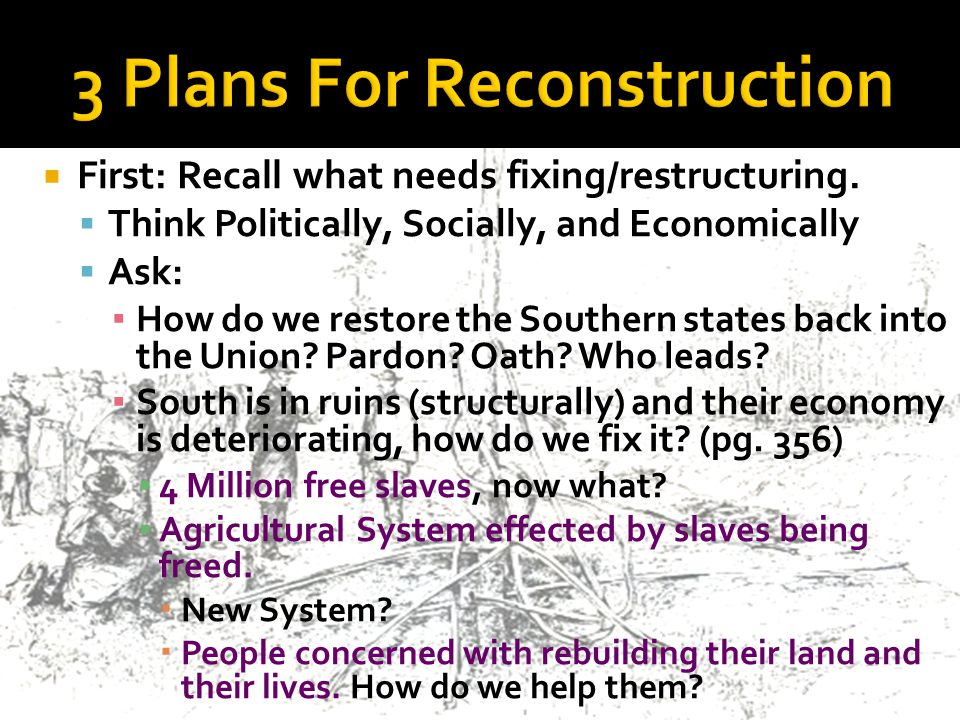  First: Recall what needs fixing/restructuring.