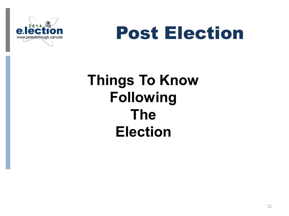 Post Election 12 Things To Know Following The Election