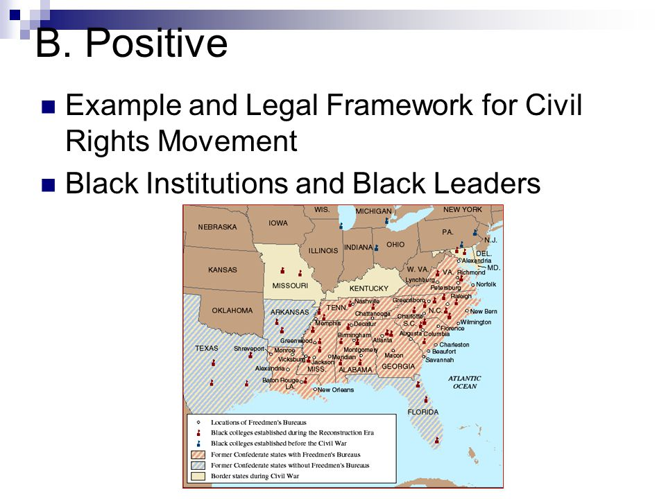 B. Positive Example and Legal Framework for Civil Rights Movement Black Institutions and Black Leaders