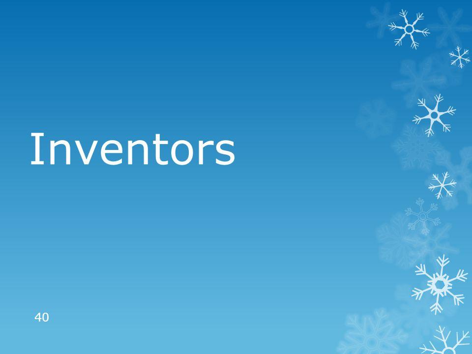 Inventors 40