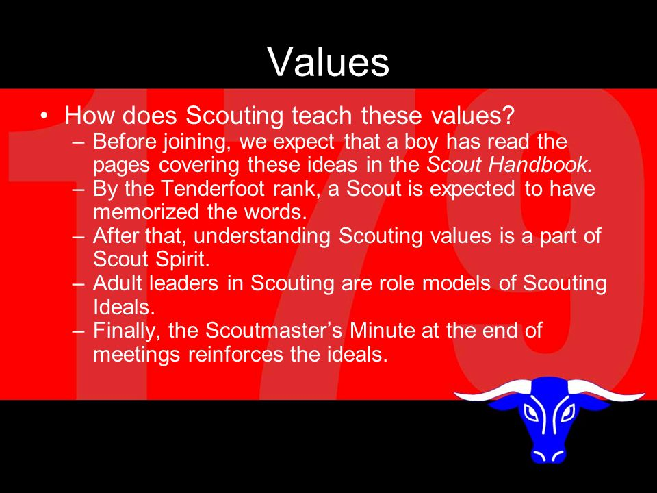 Values How does Scouting teach these values.