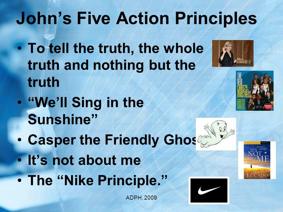 Religious Ethical Principles ADPH, 2009