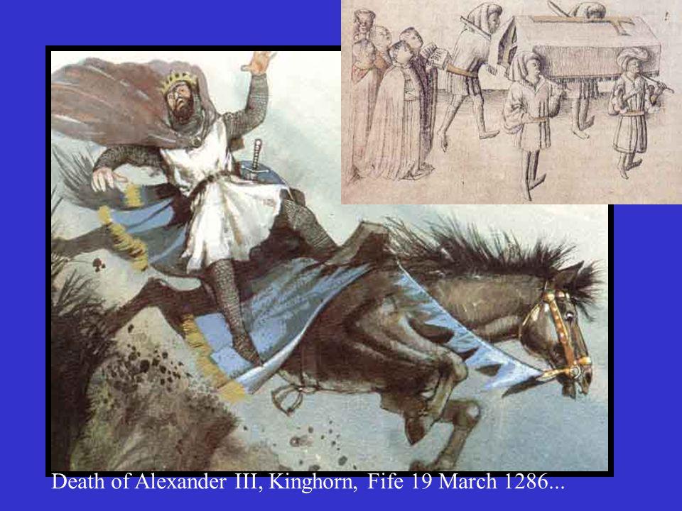 Parliament at Scone 5 Feb 1284 - Prince Alexander d.