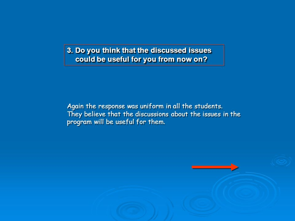 3.Do you think that the discussed issues could be useful for you from now on.