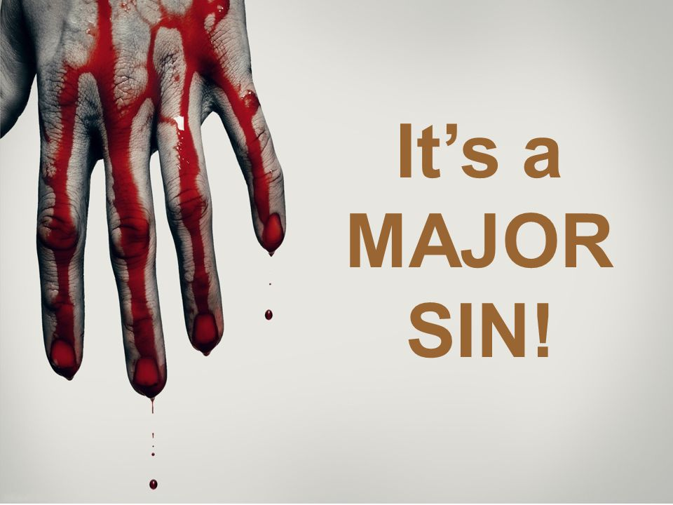 Major or Minor sin