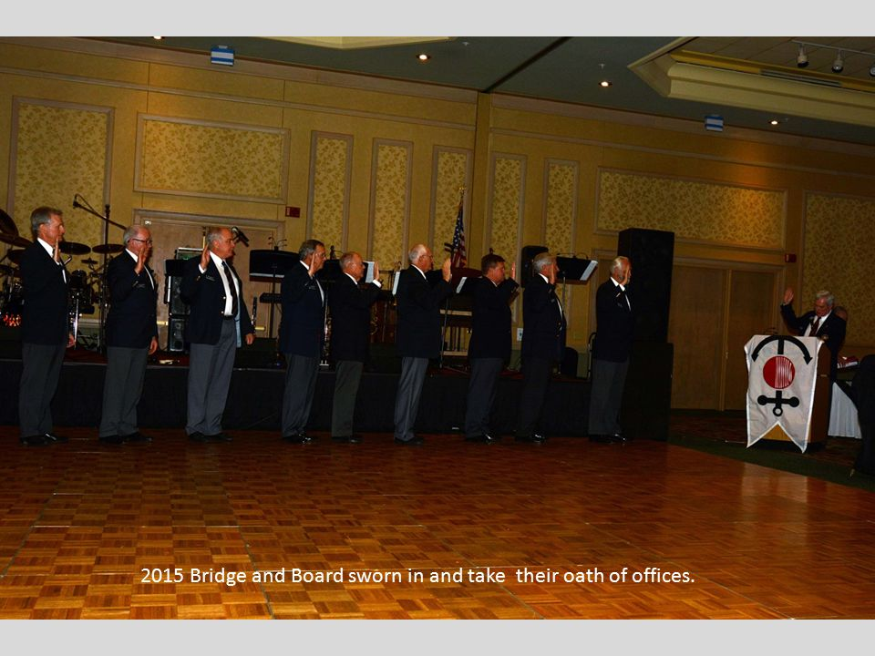 2015 Bridge and Board sworn in and take their oath of offices.