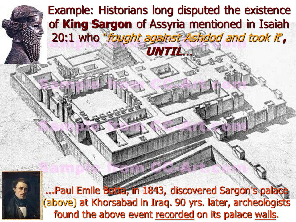 In 1970 the archives of the ancient city Ebla in Northern Syria were discovered.