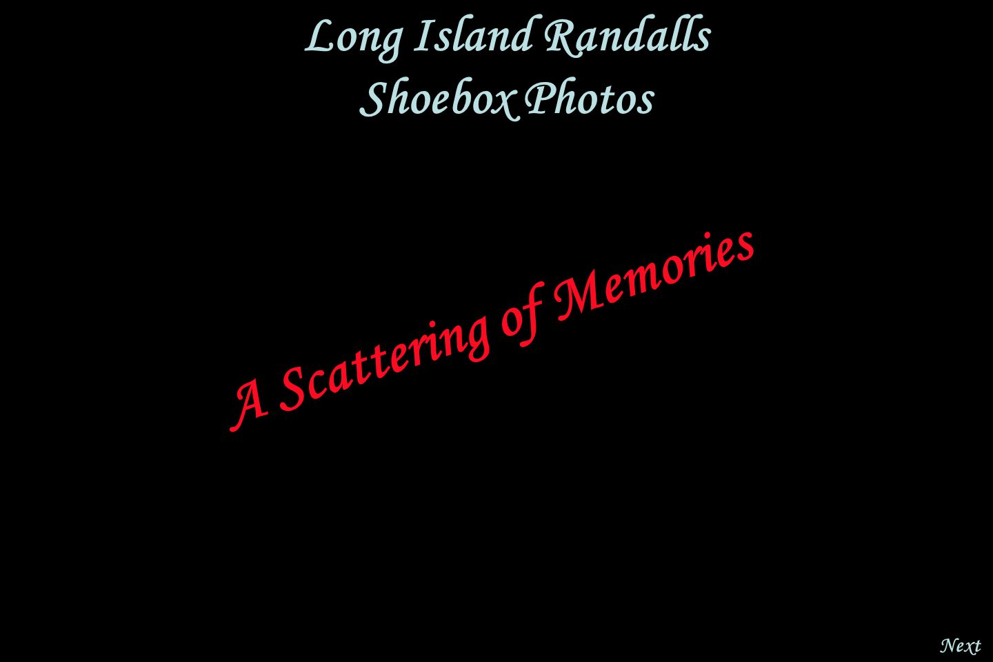 Next Long Island Randalls Shoebox Photos A Scattering of Memories