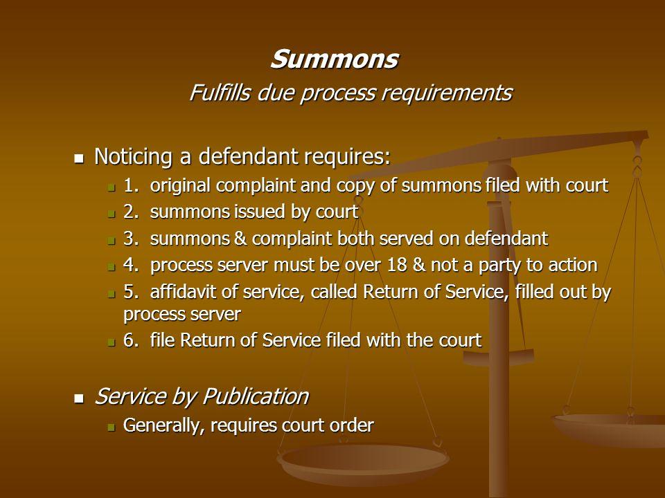 Establishing Causes of Action General Allegations General Allegations Jurisdictional statements Jurisdictional statements Facts Facts General Allegations (Against All Defendants) I.