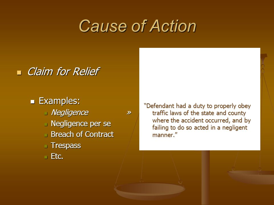 Ad Damnum Clause = Prayer for Relief = Prayer for Relief = Wherefore Clause = Wherefore Clause Wherefore, Plaintiff prays for judgment against the Defendant as follows: 1.