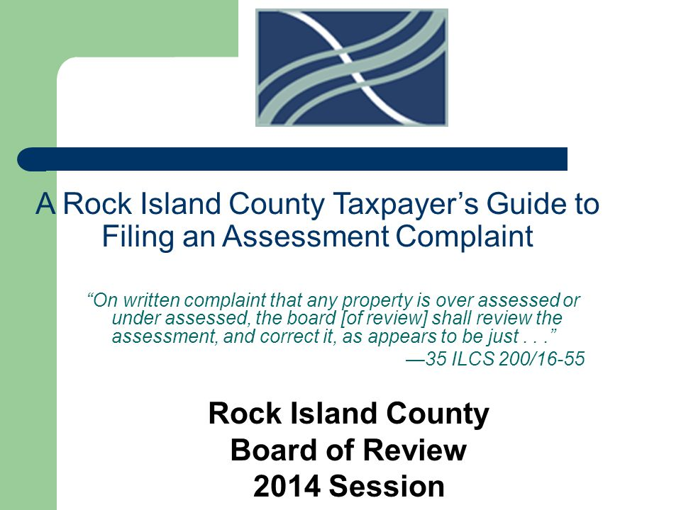 Taxpayers are strongly encouraged to discuss their real estate assessments with the Township Assessor prior to the filing of a complaint with the Board.Township Assessor Many times the reason for the assessment can be made clear or any errors in the property record card can be corrected, eliminating the need for filing a complaint.