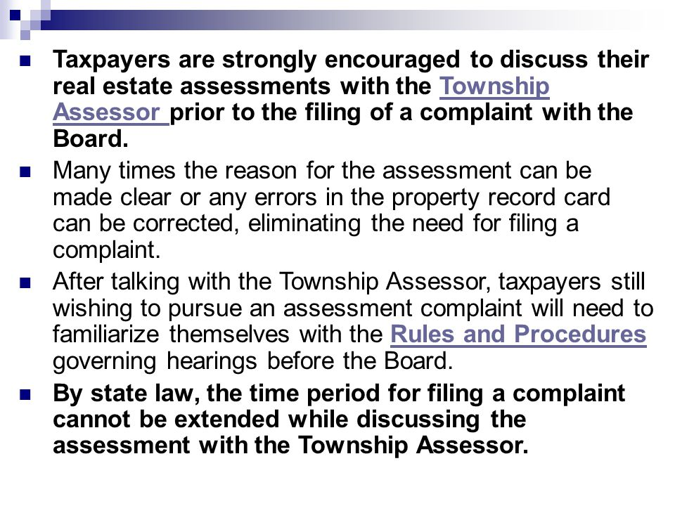 The Purpose of this Guide The Rock Island County Board of Review has developed this guide to assist Rock Island County residents in filing a complaint about the equalized assessed valuations of their homes.Rock Island County Board of Review The guide can be properly understood only in the context of the Illinois Property Tax Code (35 ILCS 200/1-1, et seq.) and Rules and Procedures.35 ILCS 200/1-1, et seq.Rules and Procedures It is the responsibility to each taxpayer to review these Rules and Procedures prior to filing a complaint.