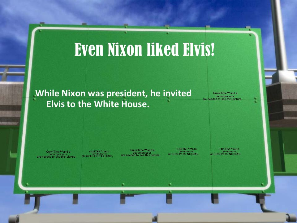Even Nixon liked Elvis! While Nixon was president, he invited Elvis to the White House.
