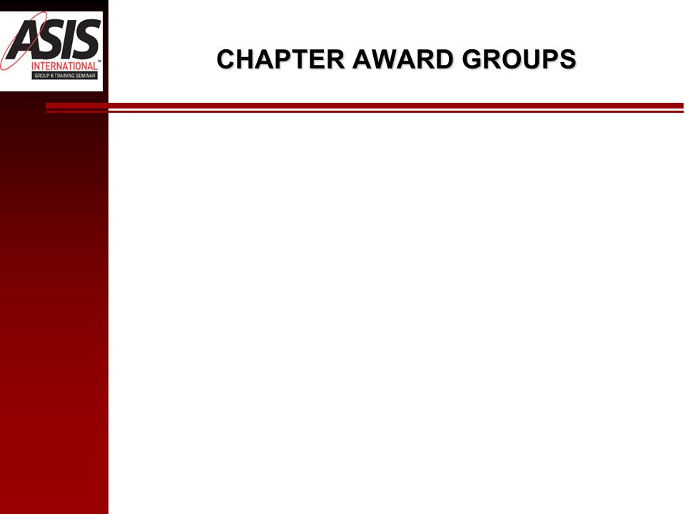 CHAPTER AWARD GROUPS