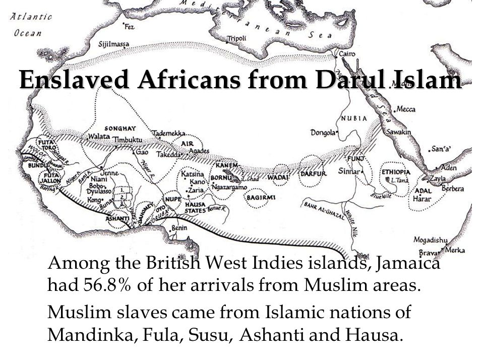 Among the British West Indies islands, Jamaica had 56.8% of her arrivals from Muslim areas.
