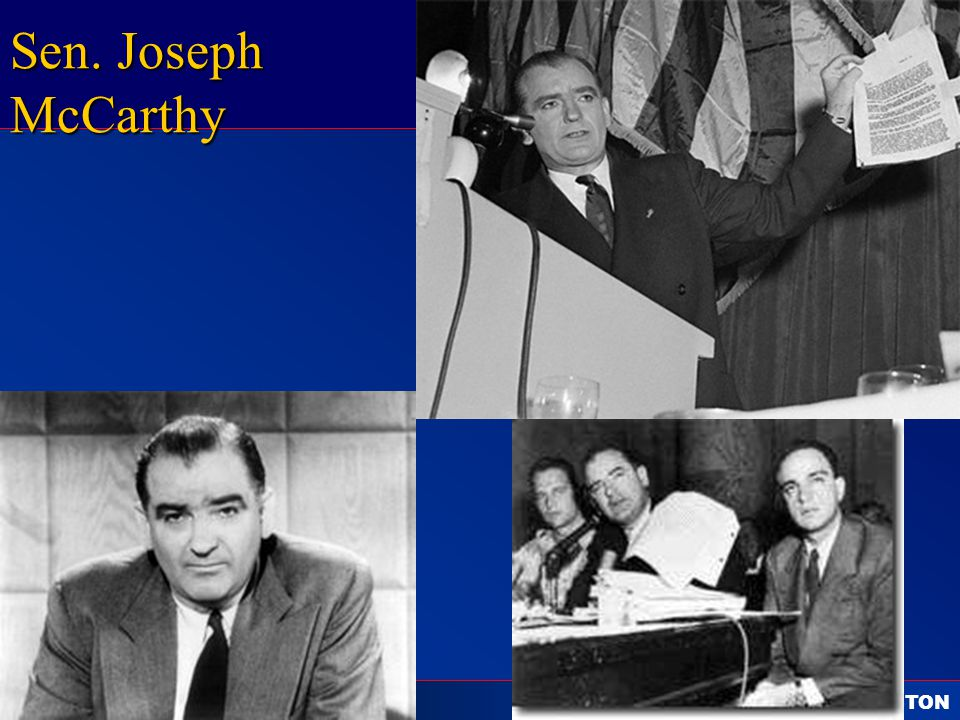 C ALL TO F REEDOM HOLT HOLT, RINEHART AND WINSTON 1865 to the Present Sen. Joseph McCarthy