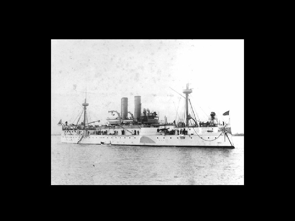 2. The _________________________ - one week after the de Lome letter, an American Warship anchored in ______________ on a goodwill mission, mysterious