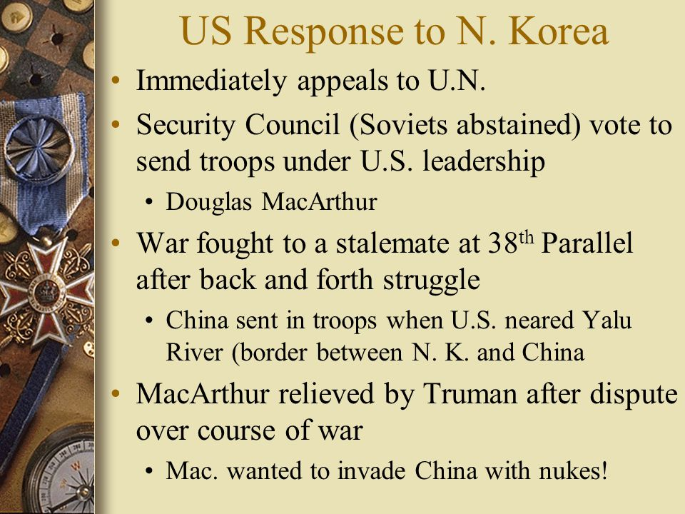 US Response to N. Korea Immediately appeals to U.N.