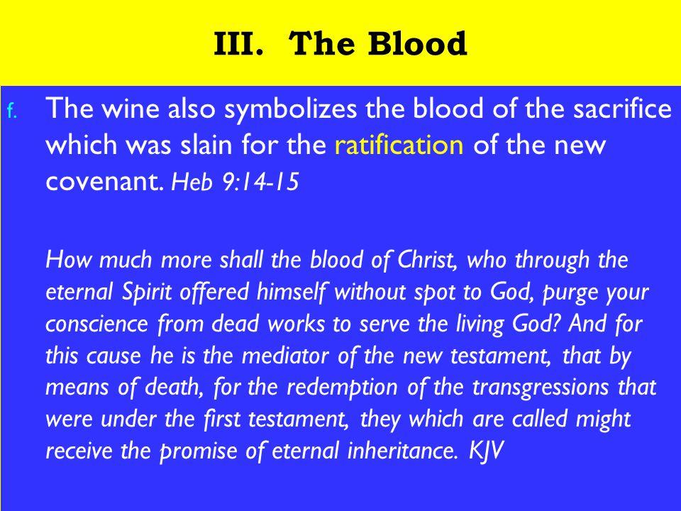 16 III. The Blood f.