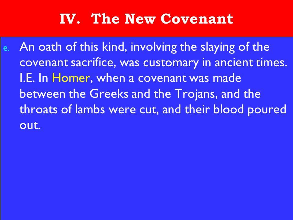 19 IV. The New Covenant e.