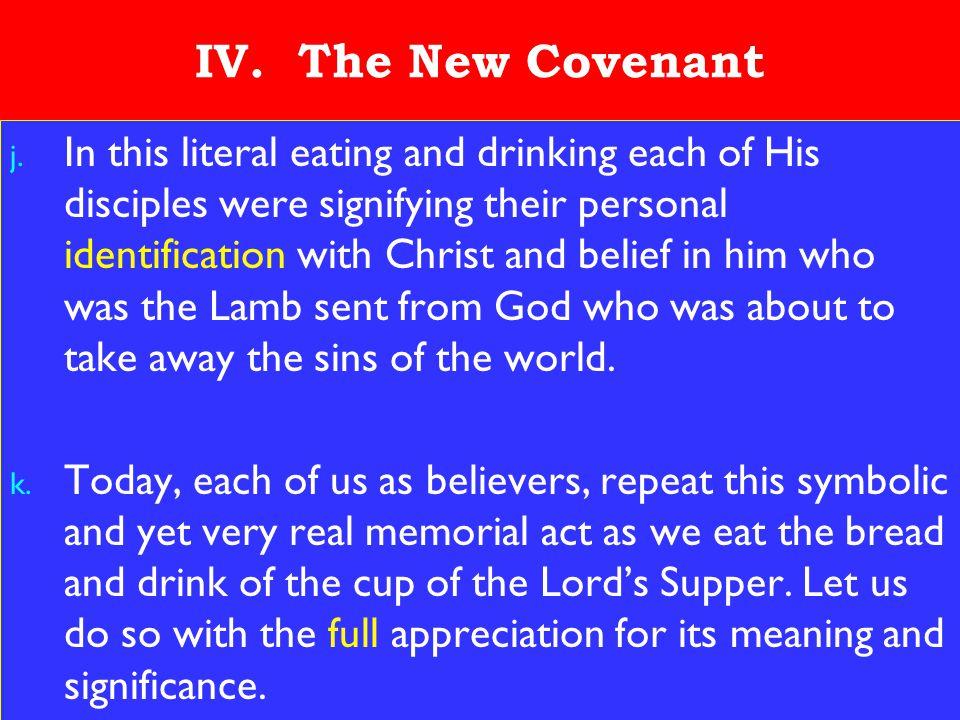 23 IV. The New Covenant j.