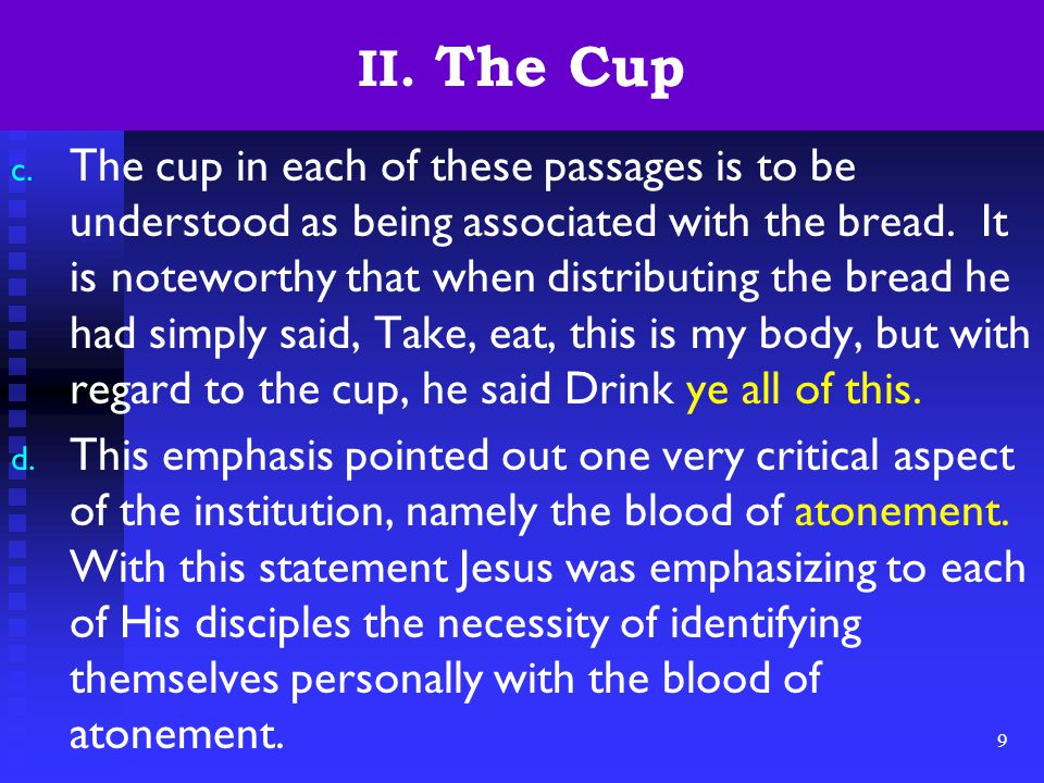9 II. The Cup c.