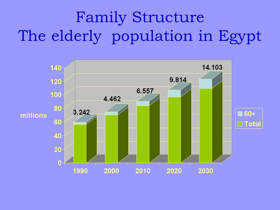 Family Structure The elderly population in Egypt
