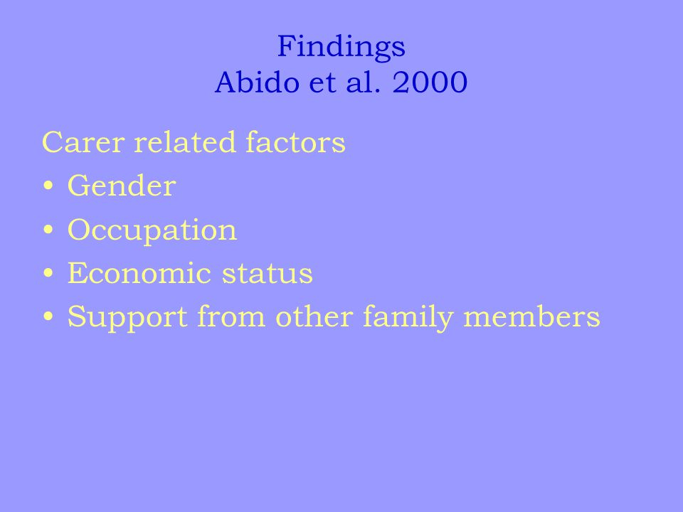 Findings Abido et al.