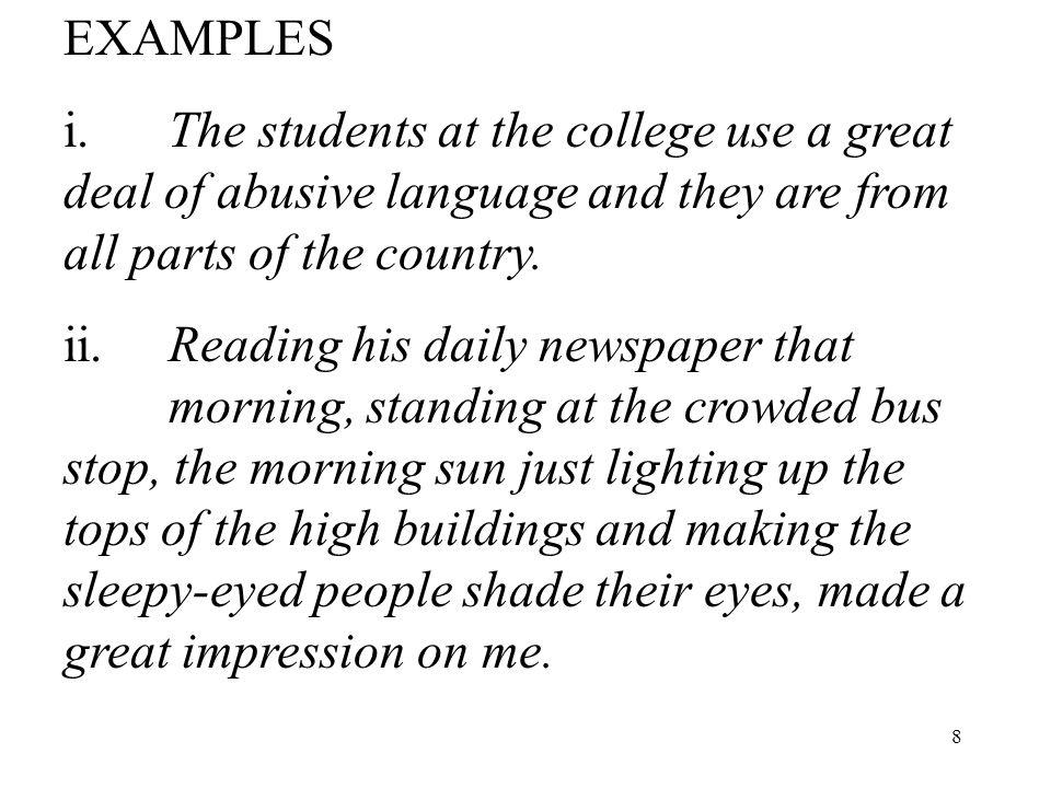 8 EXAMPLES i.