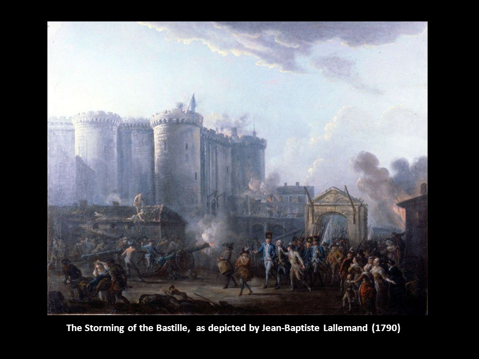 The Storming of the Bastille, as depicted by Jean-Baptiste Lallemand (1790)