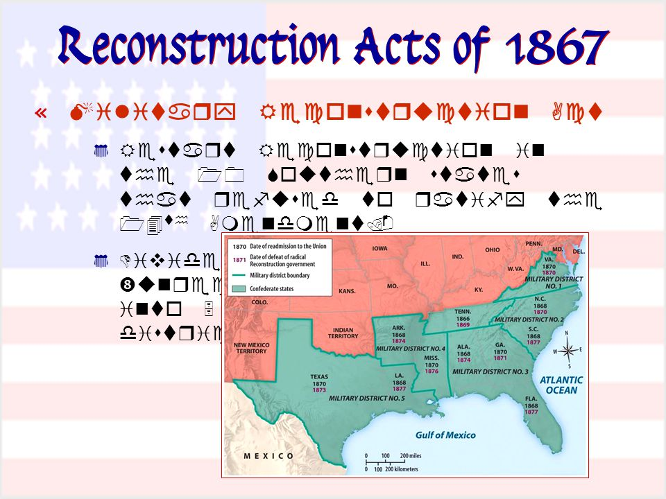 Reconstruction Acts of 1867 «             
