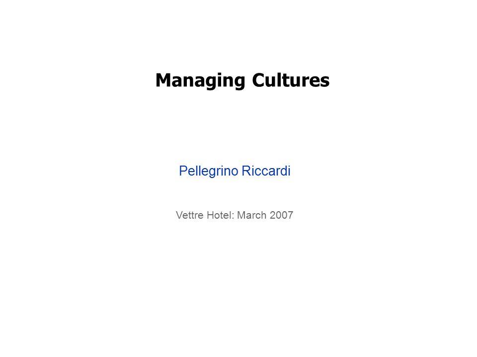 Managing Cultures Pellegrino Riccardi Vettre Hotel: March 2007