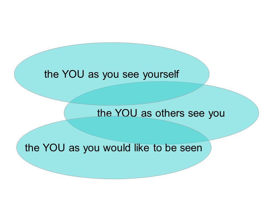 the YOU as others see you the YOU as you see yourself the YOU as you would like to be seen