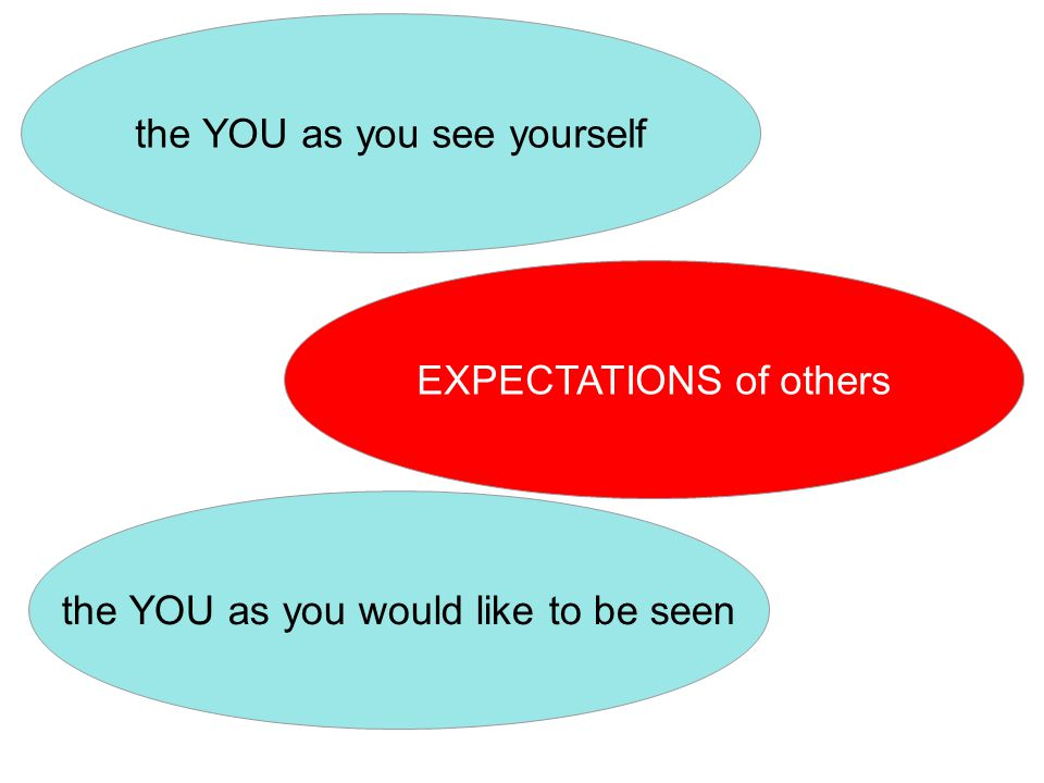 EXPECTATIONS of others the YOU as you see yourself the YOU as you would like to be seen