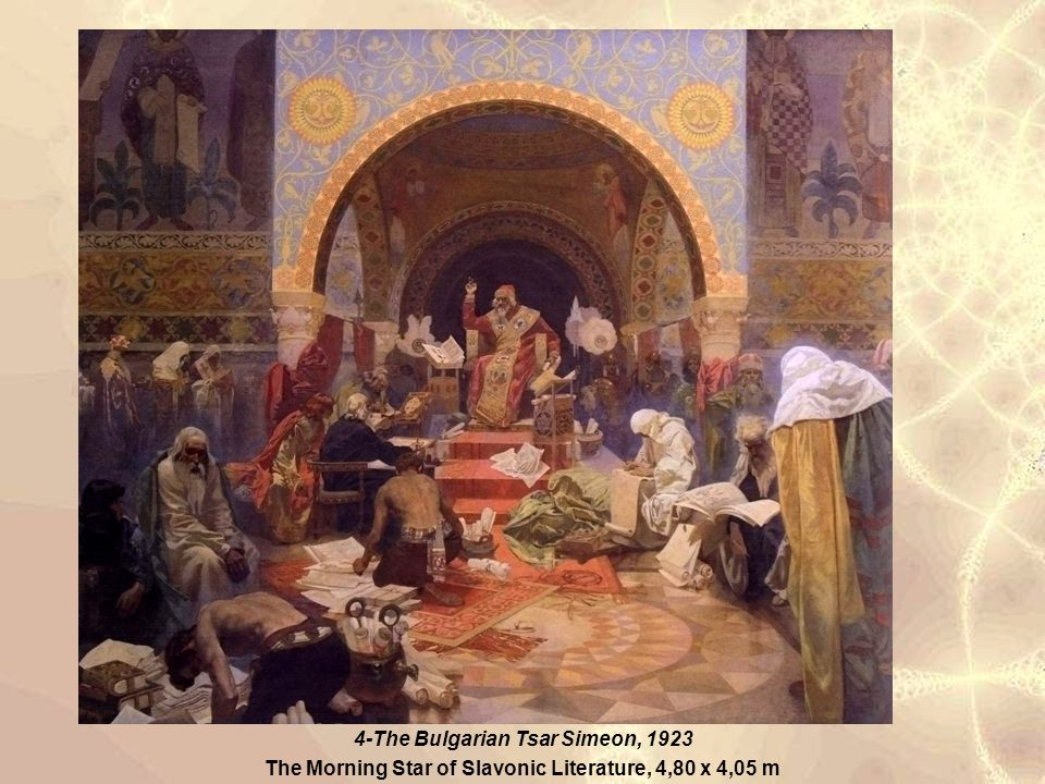 4 4-The Bulgarian Tsar Simeon, 1923 The Morning Star of Slavonic Literature, 4,80 x 4,05 m