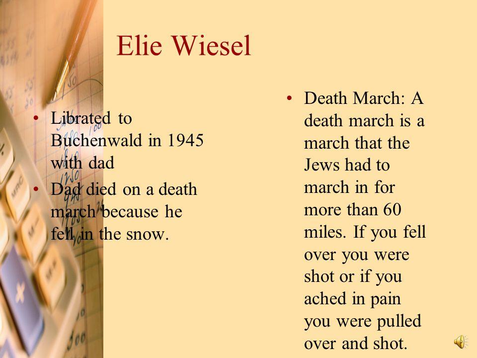 Elie Wiesel Survived 4 concentration camps:  Auschwitz  Buchenwald  Buna  Gleiwitz Survived 4 concentration camps:  Auschwitz  Buchenwald  Buna
