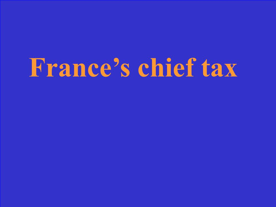 France's chief tax