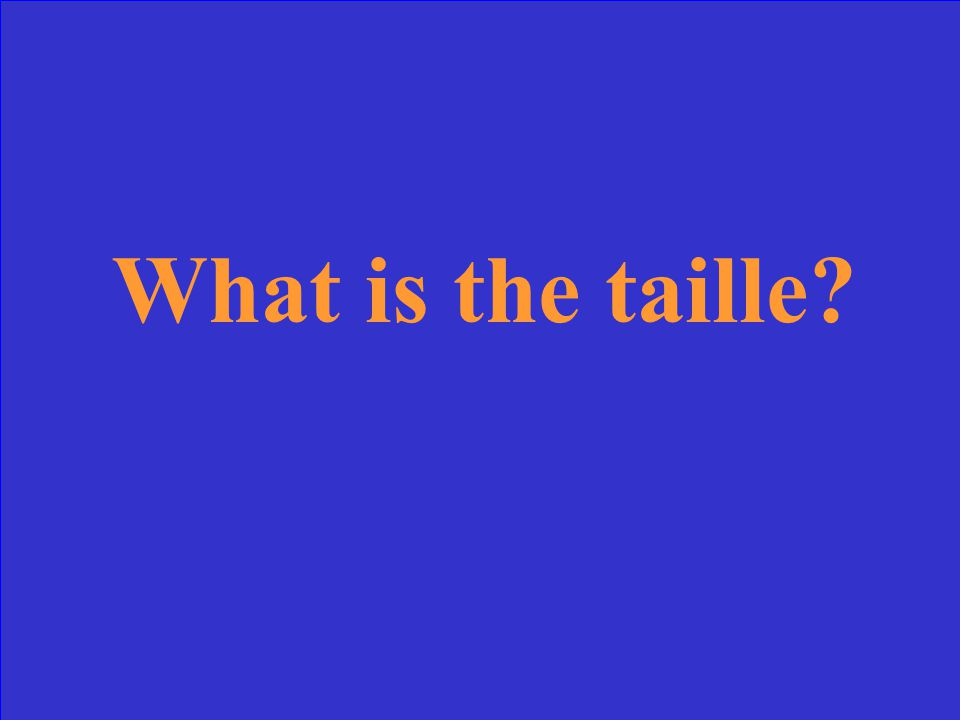 What is the taille?