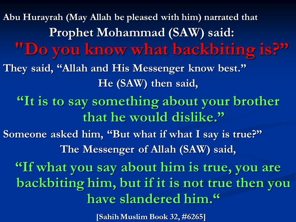 What to do if I did Backbiting Gossiping before knowing this ?