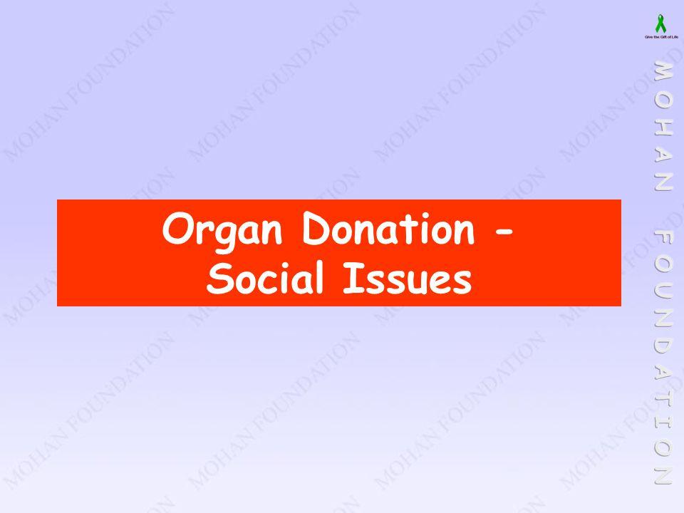 Organ Donation - Social Issues