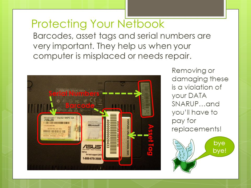 Protecting Your Netbook Keep it in its case.