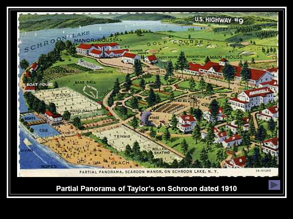 Partial Panorama of Taylor's on Schroon dated 1910