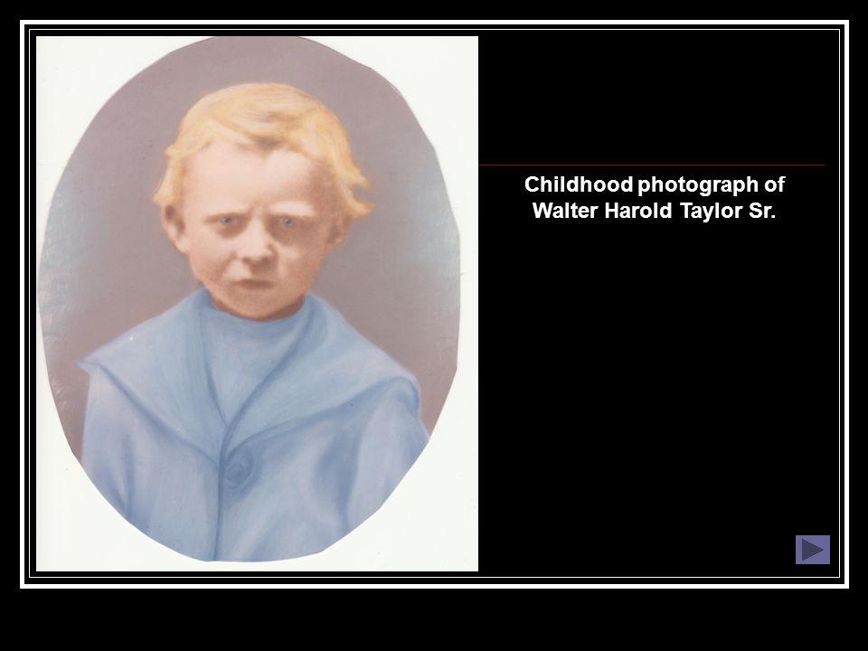 Childhood photograph of Walter Harold Taylor Sr.