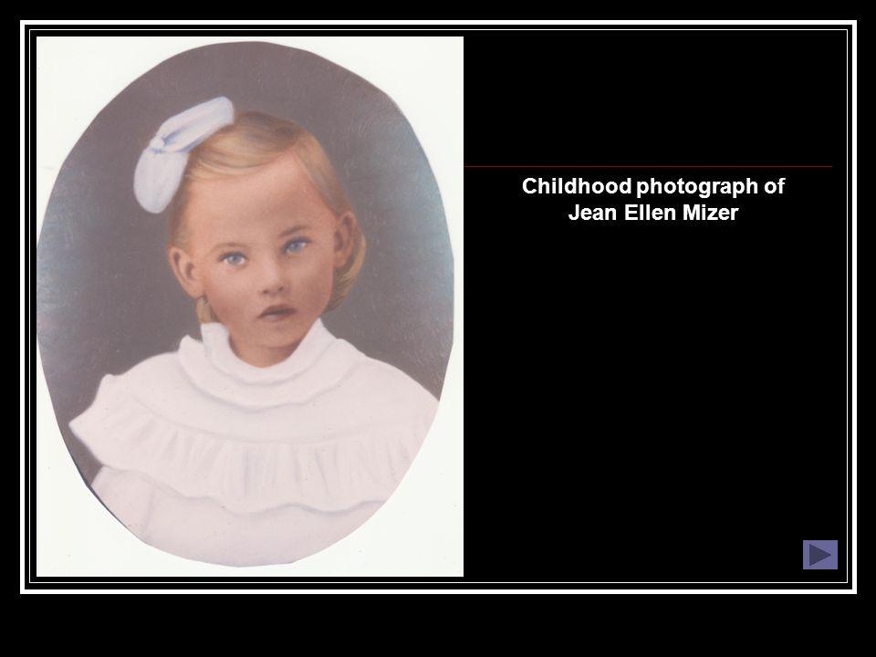 Childhood photograph of Jean Ellen Mizer