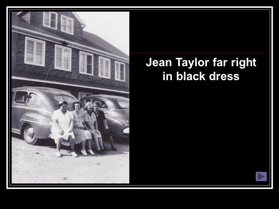 Jean Taylor far right in black dress