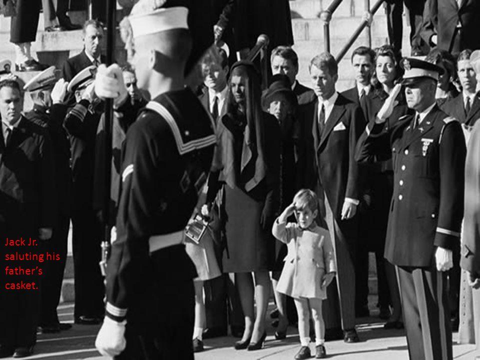 Jack Jr. saluting his father's casket.
