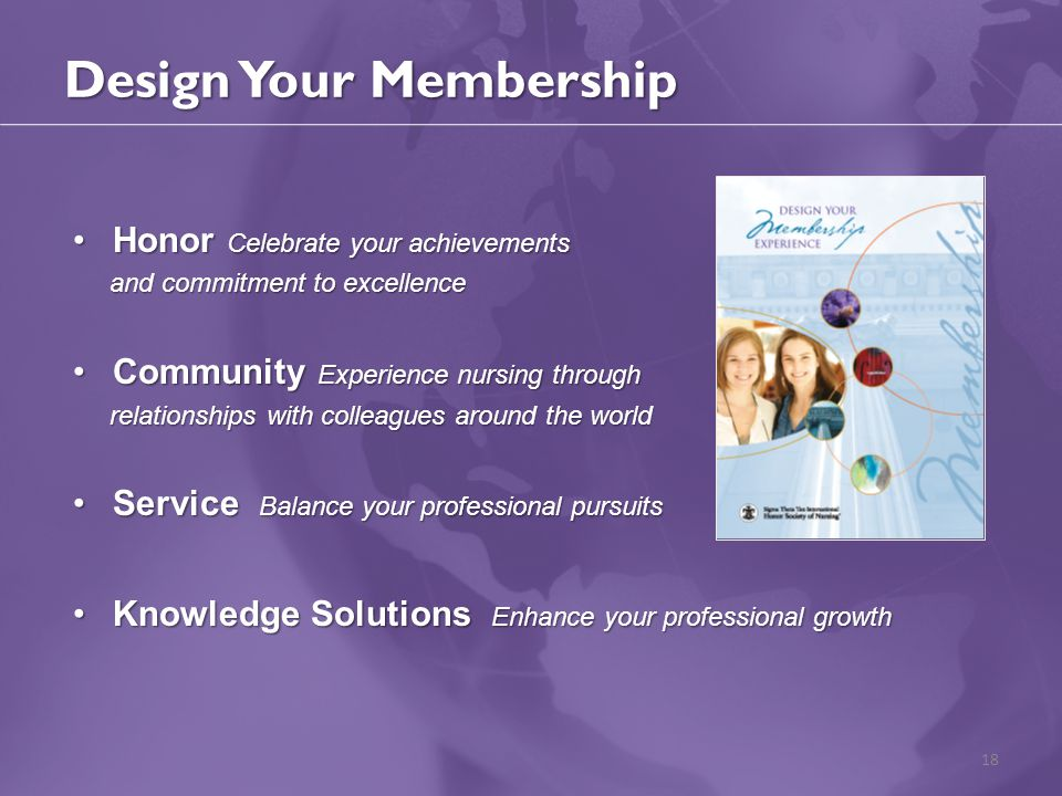 Design Your Membership Honor Celebrate your achievementsHonor Celebrate your achievements and commitment to excellence and commitment to excellence Co