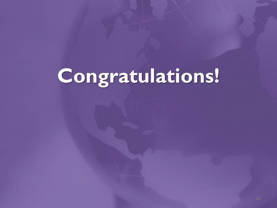 Congratulations! 24